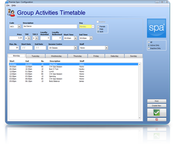 Spa Management Software Classes