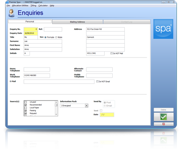 Spa Management Software Enquiries