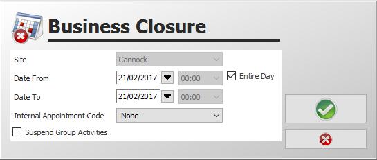 Column closure admin